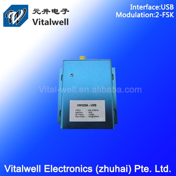 VW320A 100mW 5V USB 433/868mhz wireless radio modem