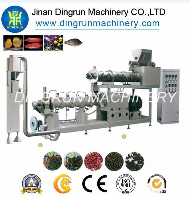new designed big capacity floating fish feed extruder machine