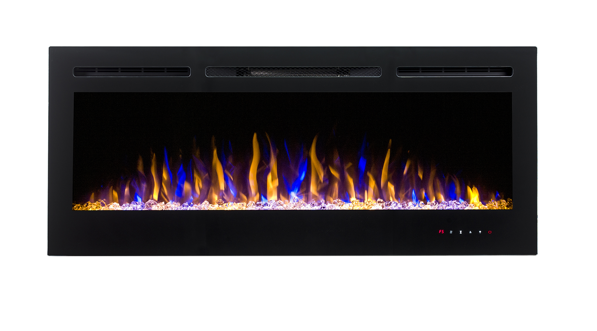 2018 wall mounted/built in 50'' electric fireplace heater with black