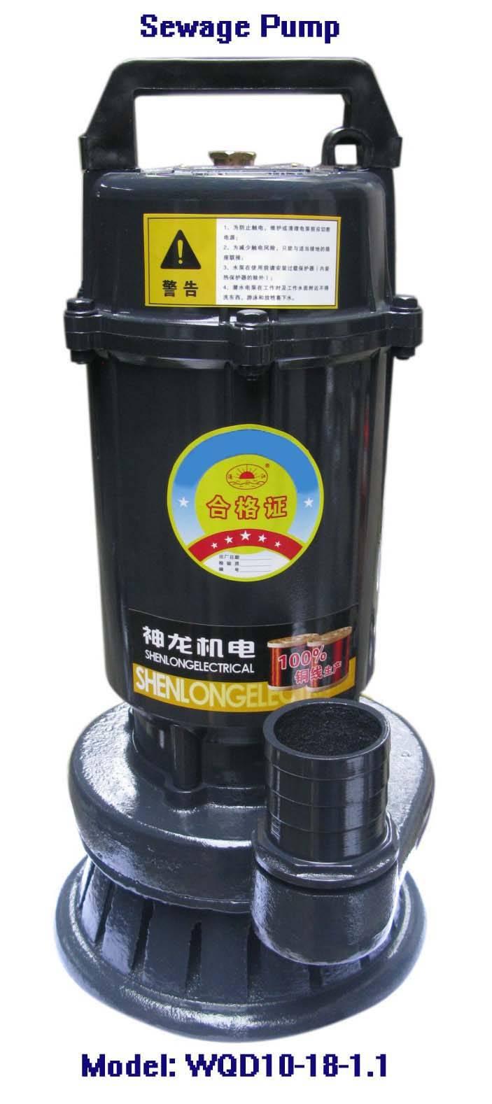 Electric Sewage Pump-WQD10-18-1.1