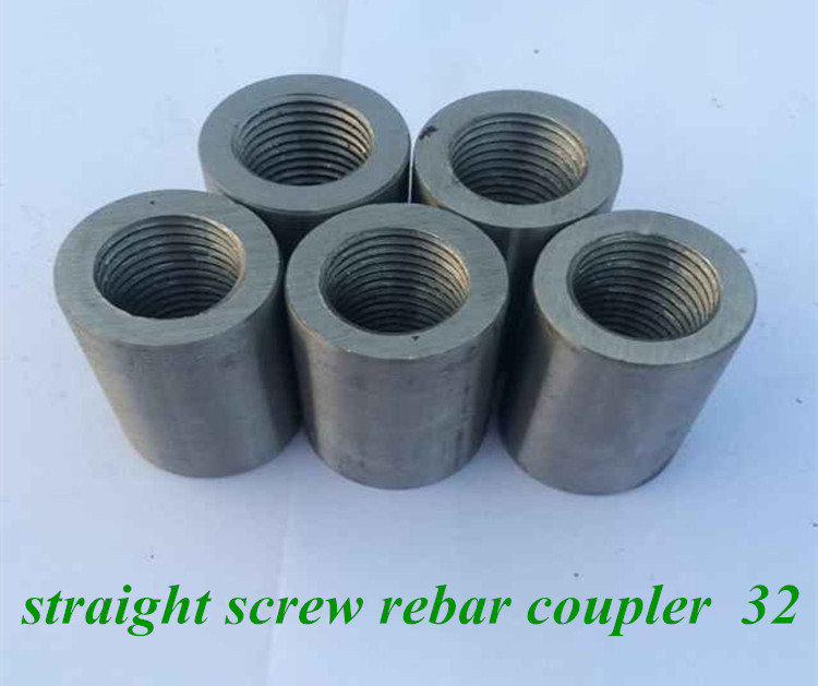 straight screw rebar coupler to connect reinforced steel bar