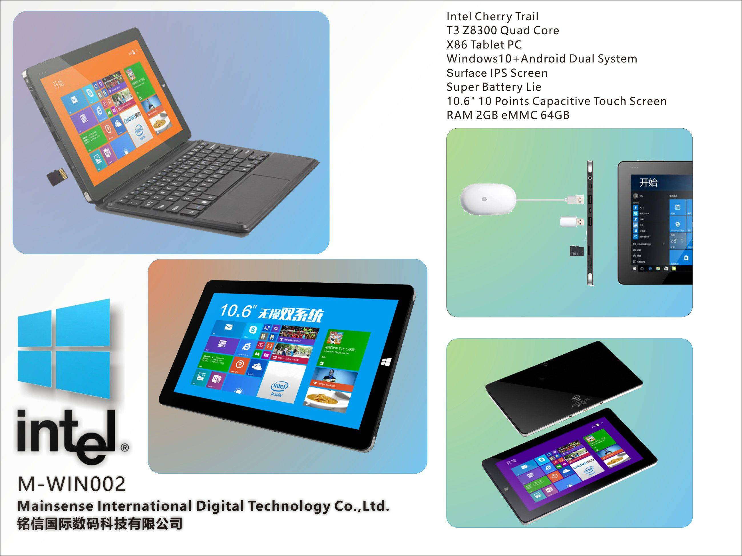 10.6Inch Windows8.1/10 X86 Tablet PC