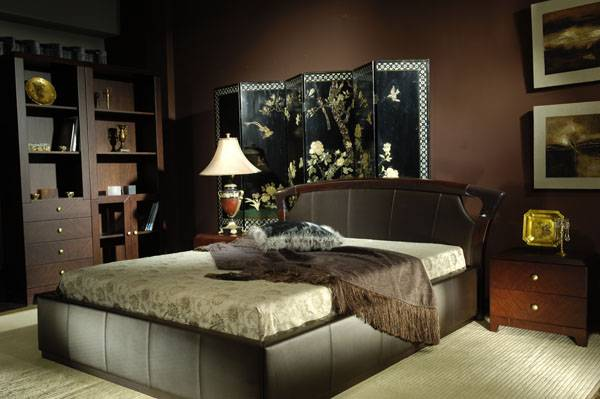 High-end designer furniture: leather bedroom sets, bed & bedside cabinet - Shanghai JL&C