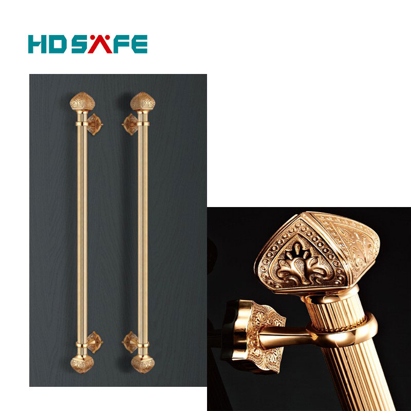 Elegant gold color door pull handle front door handle