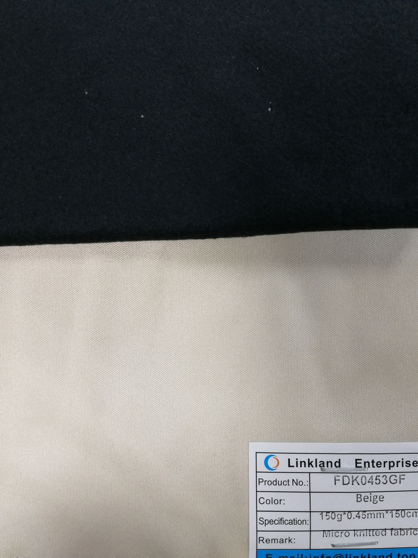 micro knitted fabric for leather backing