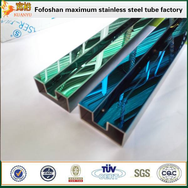 sapphire glass stainless steel single slot tubes for modern staircase railing