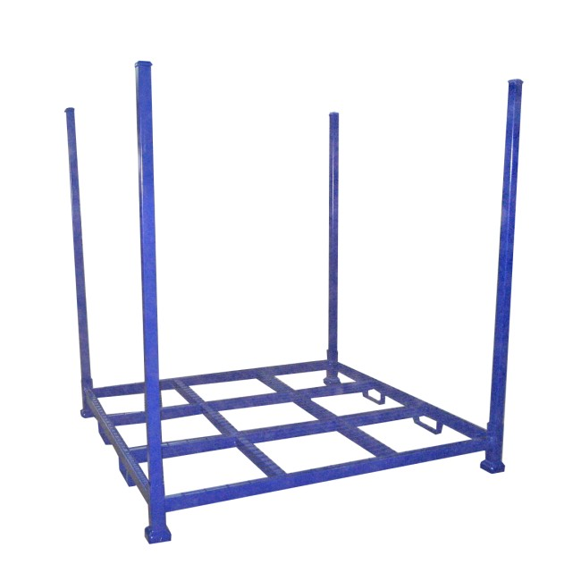 Demountable stack rack for tyre or rolls storage