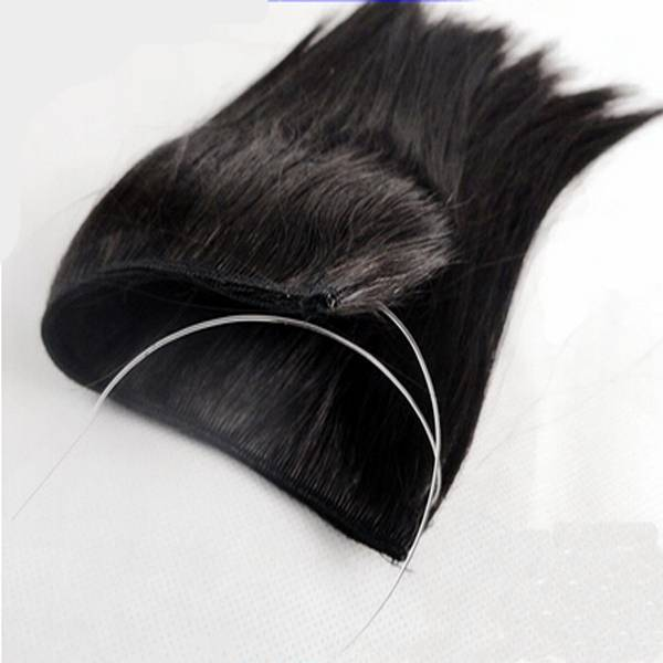 """Flip In Human Hair Machine Weft With Any Length 18""""-30"""" Natural Color Flip In Hair Weft"""