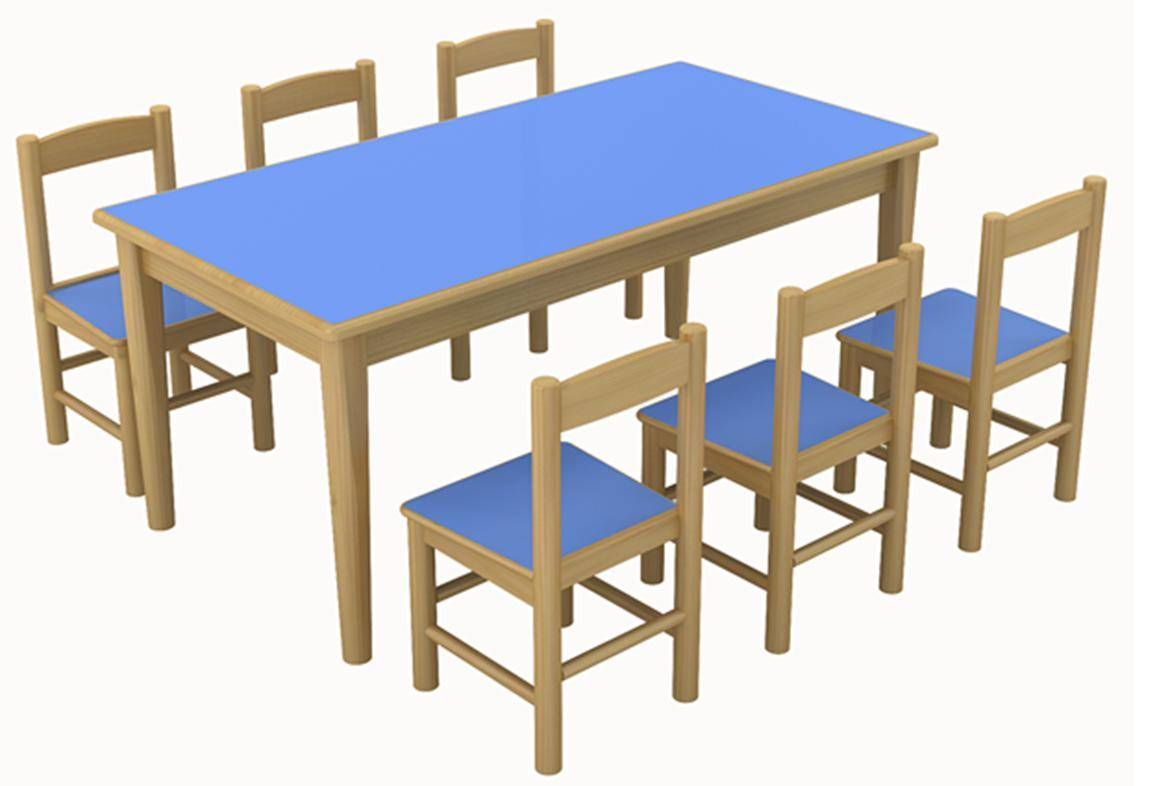 Classroom Furniture Canada ~ Wooden kindergarten table kids children