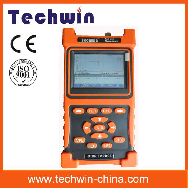 Techwin new handheld mini fiber otdr test TW2100E
