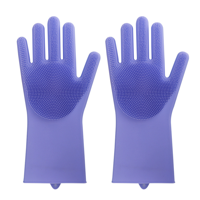 Kitchen Silicone Cleaning Gloves Magic Silicone Dish Washing Gloves Easy Household Bathroom Silicone