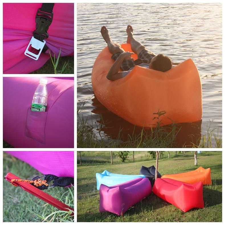 Fast inflatable air sleeping bag