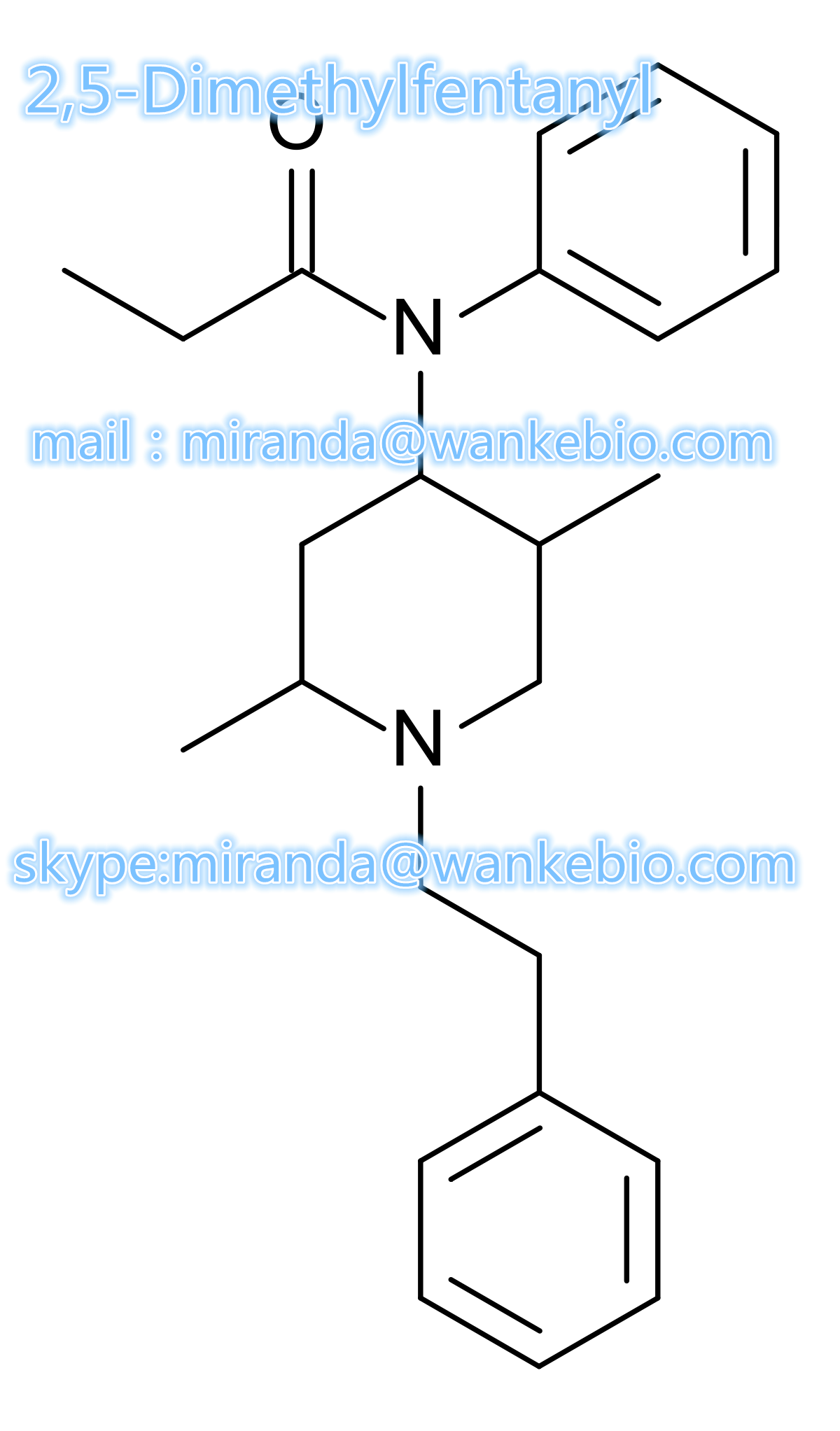 a 2,5-Dimethylfentanyl Phenaridine 42045-97-6 C24H32N2O mail/skype miranda at wankebio com