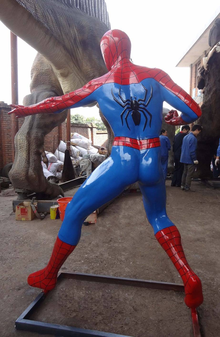 FRP Spiderman Sculpture for Indoor or Outdoor