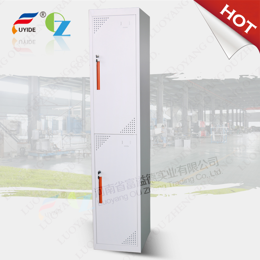 Easy Assemble KD 2 door metal sports cabinet office clothing lockers