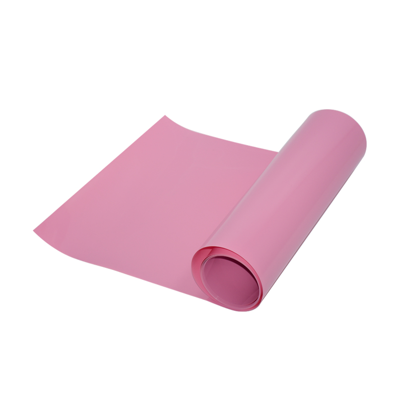 0.45 mm Pink Color Hard PVC Plastic Sheet Film For Thermoforming