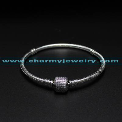 Fit For Pandora Charms&Beads Solid 925 Sterling Silver Bracelet Wholesale