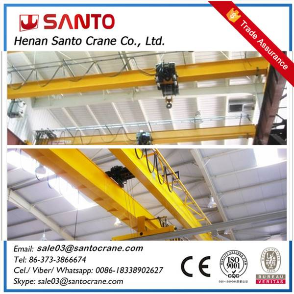 Workshop used electric eot hoist overhead traveling bridge crane for 5ton to 500ton