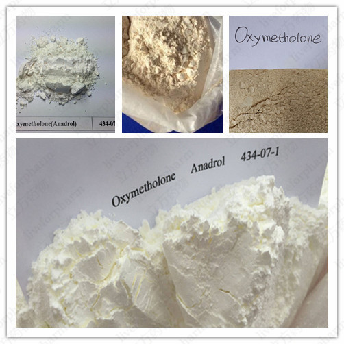 White Muscle Building Steroid Raw Oxymetholone Powder For Weight Loss CAS434-07-1