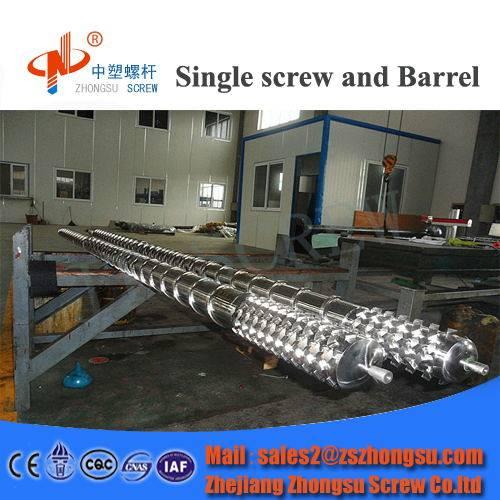 plastic extruder single screw barrel for pvc pipe