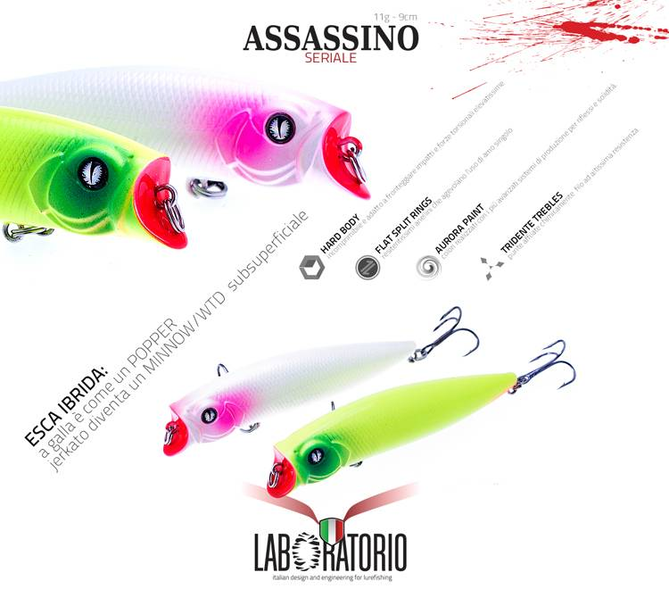 laboratorio fishing hard baits, 90mm cut mouth