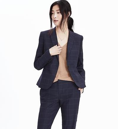 Linen Check Summer Designer Women Suits