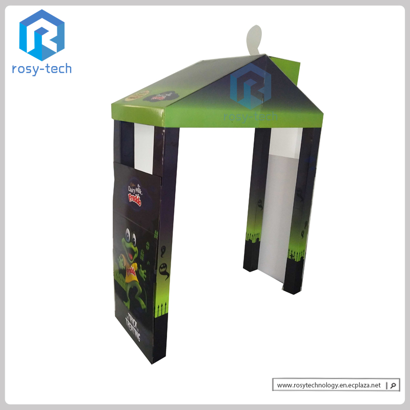 Hut Shape Pop Up Cardboard Products Display Stand Corrugated Floor Display Rack Paper Display