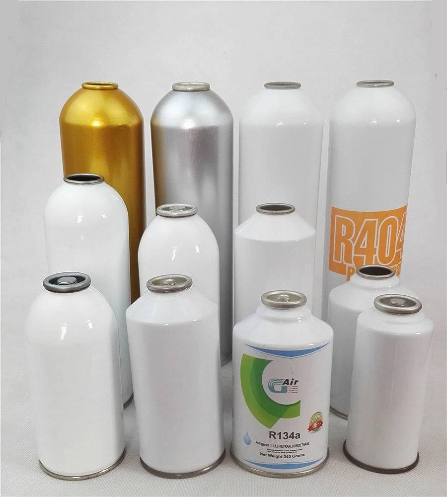 Empty aerosol tinplate spray can for refrigerant