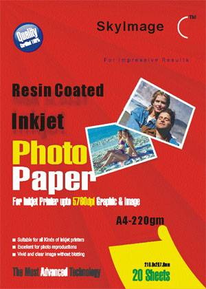 220g Inkjet Resin Coated Paper