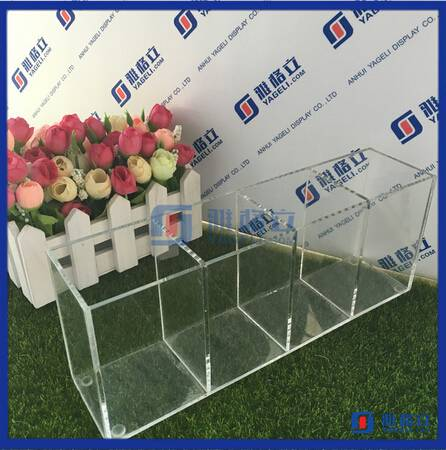 Acrylic makeup brushes display stand