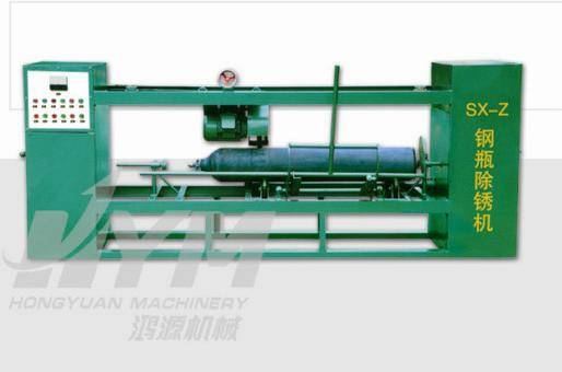 Steel cylinder rust cleaning  equipment