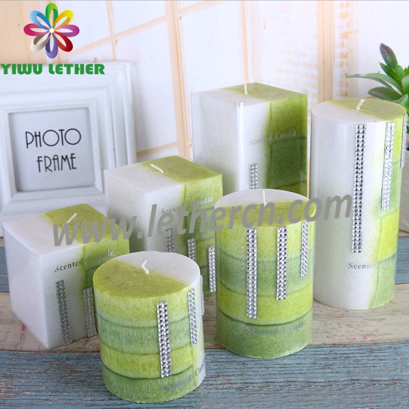 Customized Design Wedding Gift fragrance Pillar Scented Candles Square Candles