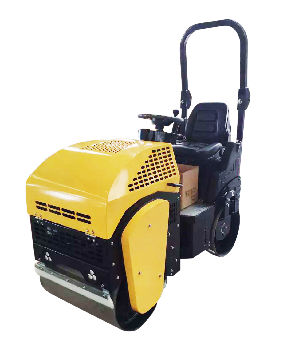 1Ton fully hydralic drving double drums vibration road roller