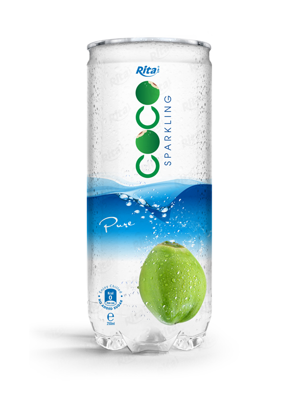 250ml Pet Can Pure Sparking Coconut Water