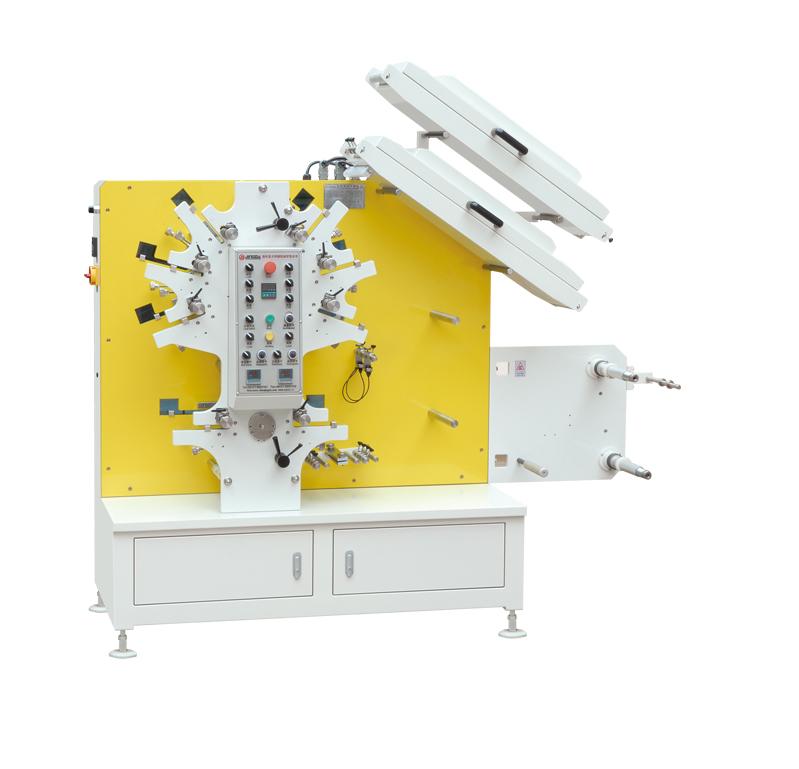 JR-1262 (6Colors+2Colors) Textile Tape Printing Machine /Flexo Fabric Ribbon Label Printing Machine