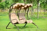 outdoor garden three swing chair villa patio swing folding swing chair/hammock