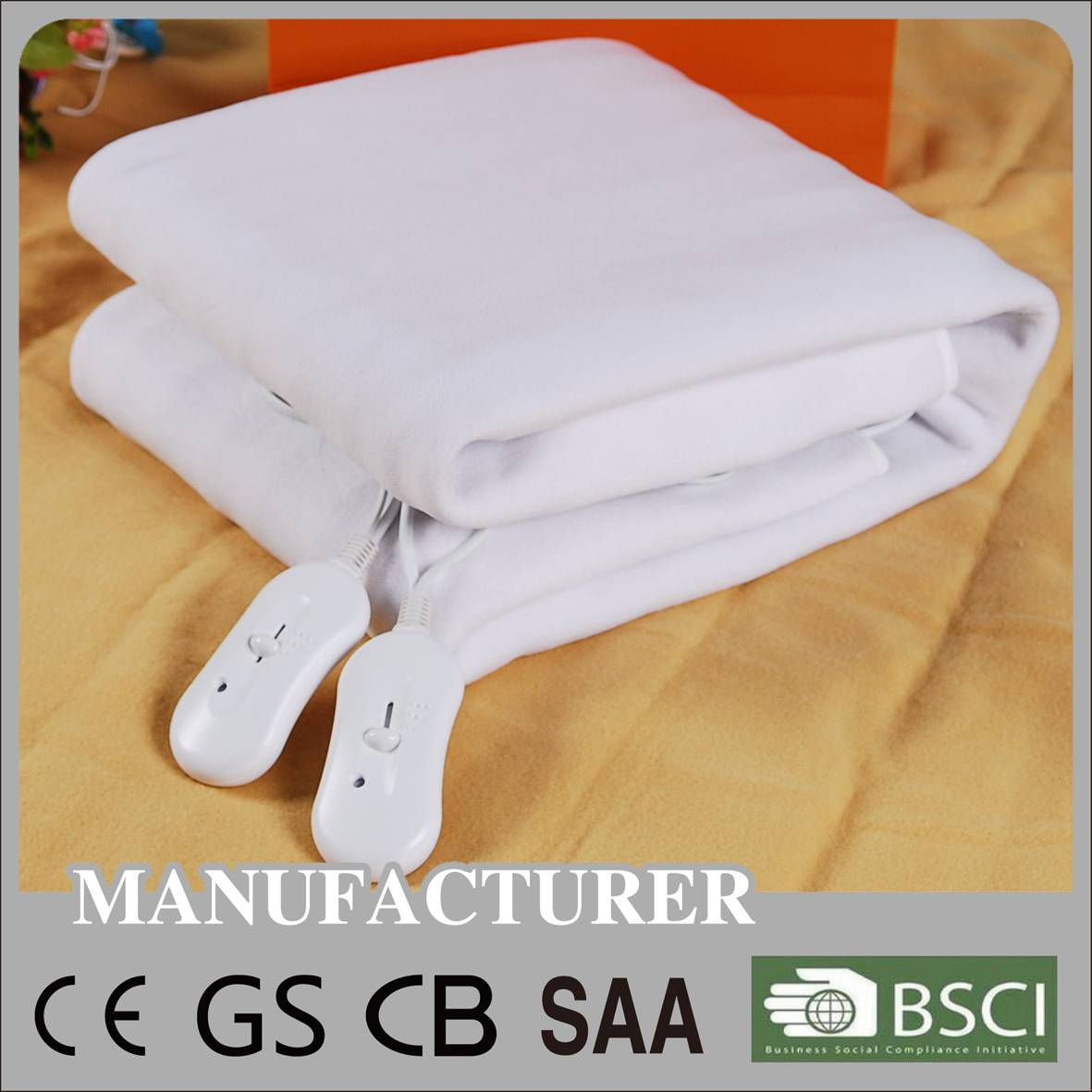 doubel electric heating blanket with CE