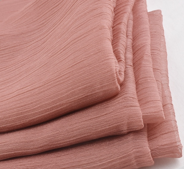 Light weight 100% polyester 30D shiny chiffon plain crepe fabric