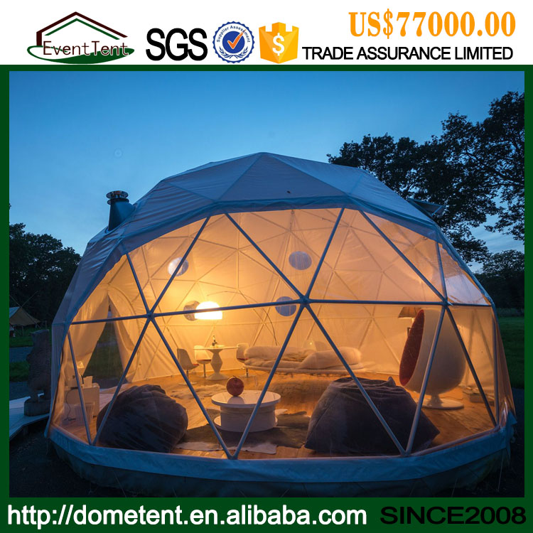 Clear Top Geodesic Dome Tent House Prefabricated For Outdoor Living