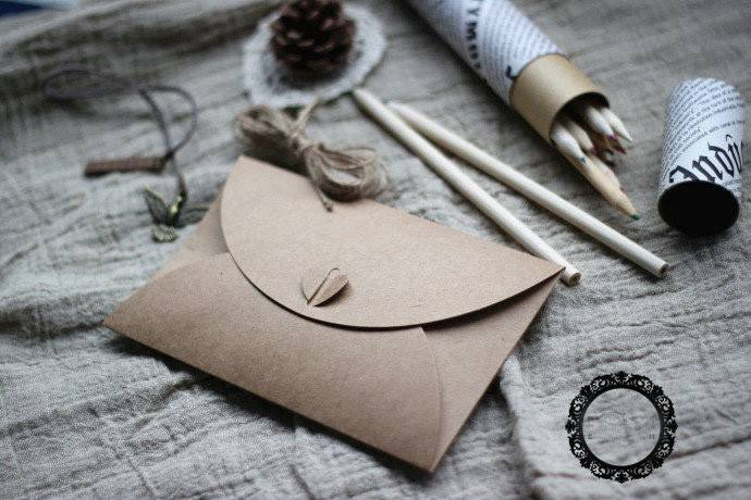 brown kraft paper envelope gift card package envelope