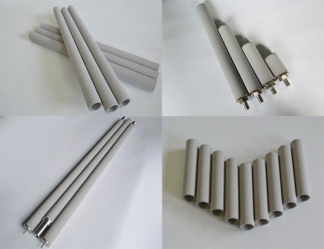 beverage juice wine purification filtration porous sintered titanium filter tube cartridges