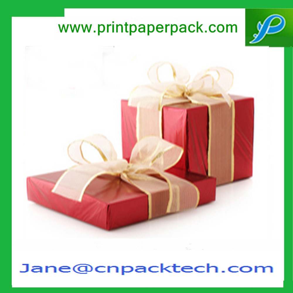 Custom Ribbon Square Fashion Packaging Boxes Paper Gift Box