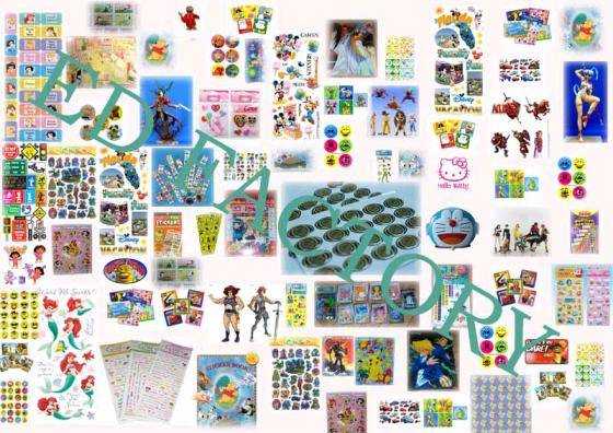 All Kinds of Licensing ,Tattoo Stickers, PVC Sticker   A-2000
