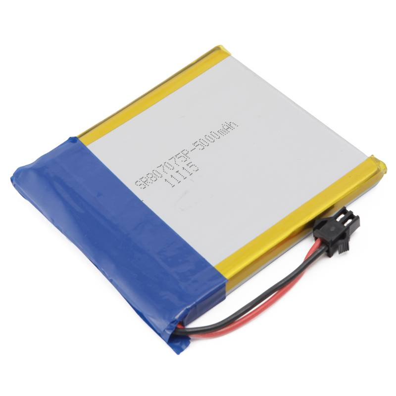lithium polymer batteries cell 807075 3.7V 5000mAh for GPS, MP3, MP4, PDA,tablet pc,medical device