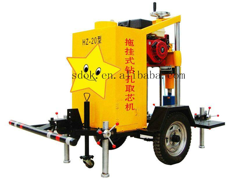 New design HZQ-20 full hydraulic gas exploration drilling rig,water drilling machine with High-quali