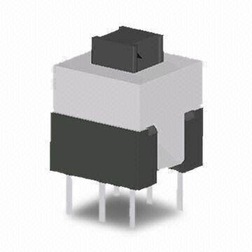 Standard Vertical Pushbutton Switch, 0.3A/30V DC Rating Voltage