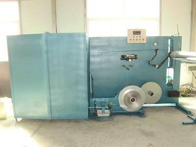 Aluminum flexible duct formiing machine