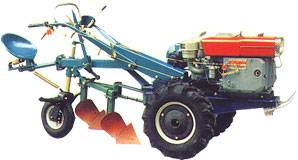 walking tractor with seat