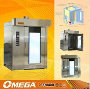 OMEGA Hot sale hot air rotary rack oven for bakery(CE&ISO9001)