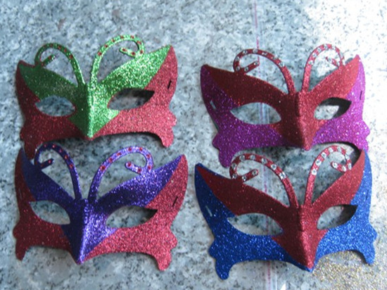 Venetian Christmas Masquerade Half Face Glittering Butterfly Party Mask